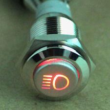 16mm 12V LED tastender Knopf Metallschalter Auto KFZ Scheinwerfer Druckschalter