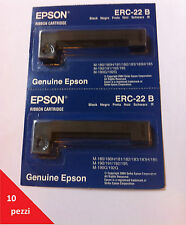 Nr.10x ORIGINALE EPSON NASTRO NERO C43S015358 ERC-22B