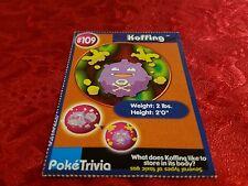 Burger King Pokemon Promo Card Koffing #109