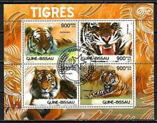 Animaux Félins Tigres Guinée Bissau (157) série complète 4 timbres oblitérés
