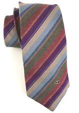 Vintage Gucci Mens Silk Striped Tie Fall Colors