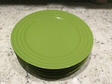 4 Rachael Ray Dinner Plates in Double Ridge Green Apple - New With Tags