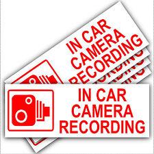 5 X en coche cámara de grabación advertencia stickers-cctv sign-van, Taxi, Mini cab-30mm-rw