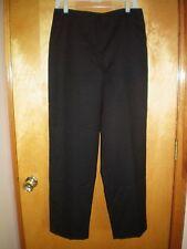 NWT NEW womens size 12 X 30 black LARRY LEVINE pure wool dress pants $80 retail