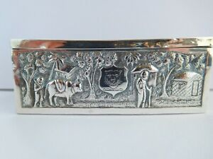 VERY NICE EARLY VICTORIAN KUTCH SOLID SILVER BOX