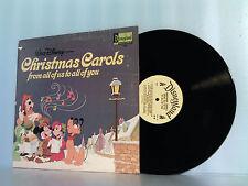 DISNEY~DISNEYLAND CHRISTMAS CAROLS ALL OF US TO YOU LP RECORD ALBUM 1973 ST#1354