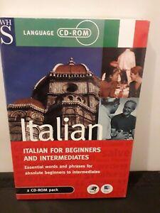 Italian For Beginners And Intermediates 2 CD - Rom Pack Mac/Windows New Sealed