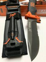Gerber Bear Grylls Tactical Survival Knife With Sheath & Fire Starter, Sharpener