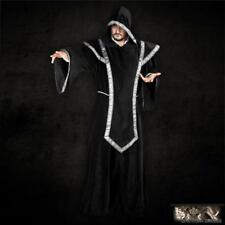 Black Cloak, Robe with Hood and Tabard Ideal for Stage, Costume or Re-enactment