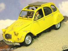 1/43 Moulage sous pression James Bond 007 Citroën 2cv en Jaune pour