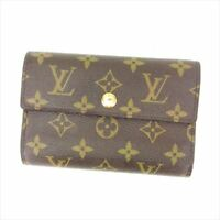 Louis Vuitton Wallet Purse Trifold Monogram Brown Woman Authentic Used Y1250