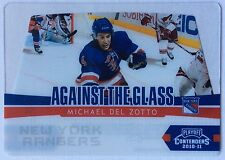 2010-11 MICHAEL DEL ZOTTO PANINI CONTENDERS AGAINST THE GLASS #11 RANGERS