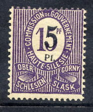 UPPER SILESIA 1920 Surcharge 5 Pf. on 15 Pf. LHM / *