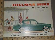 1961 1962 1963 Hillman De Luxe Sedan Folder Brochure US Import