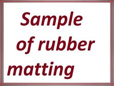 a sample of rubbermats4u's rubber matting range including postage & packing