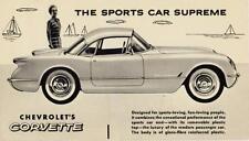 Print. 1954 Chevrolet Corvette (Canadian) THE SPORTS CAR SUPREME -  Auto Ad