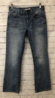 Buckle BKE Mens Aiden Boot Leg Relaxed Fit Blue Denim Jeans 30 R 30 X 31