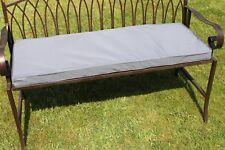 Garden Furniture Cushion- Cushion for 2 Seater Metal Garden Bench Light Grey