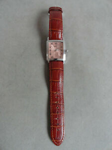 "ROTARY WRIST WATCH - LEATHER STRAP - 8.5"" ADJ - WORKING - CHARITY AUCTION"