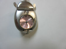 New Silver Ladybug Necklace Quartz Watch Pink Dial Ladybugs Bug Bugs Watches