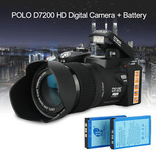 POLO D7200 1080P DSLR Digital Multi-media Telephotos Camera Camcorder +2 Battery