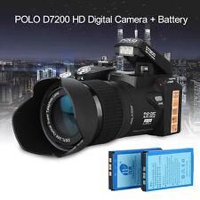 "POLO D7200 3.0"" 33MP HD 1080P Digital 5MP CMOS LED Spotlight Camera +2 Battery"