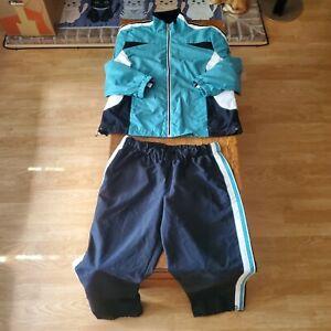 SJB active 2 piece women's outfit pants M jacket L green/blue Tracksuit Workout