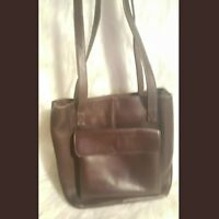 Hobo International Brown Purse Leather Straps Lined Excellent