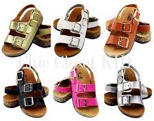 New Girls Boys Youth Unisex JR ARIZONA Casual Open Toe Buckle Strap Sandals Shoe