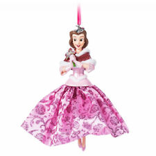DISNEY STORE BELLE Pink Gown SKETCHBOOK CHRISTMAS ORNAMENT NWTs BEAUTY & BEAST