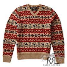 $595 RRL Ralph Lauren Vintage Fair Isle Wool Blend Pullover Sweater -MEN- M