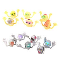 12Pcs Environmental PVC Ghost Head Finger Puppets Kids for parties, carnival