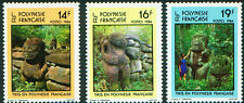 French Polynesia   STONE CARVINGS   #390- 392   MNH 1983
