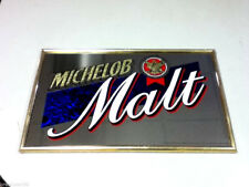 Michelob beer sign mirror malt NOS vintage bar large old Anheuser-Busch Brewery