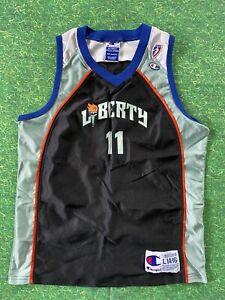 Vintage Kids 90s New York Liberty WNBA 1990s Warmup Jersey  vintage kids basketball jersey  90s wnba basketball jersey Kids Small