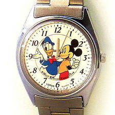 Mickey, Donald Duck Disney New Lorus Metal Band Watch, Full Number Easy Read $59