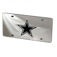 Dallas Cowboys Mirrored Laser Cut License Plate Laser Tag