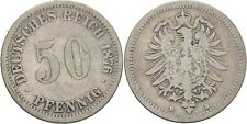 50 Pfennig 1876 D Kaiserreich Wilhelm I., Adler #W89