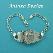 "925 Sterling Silver MEN'S  WOMEN'S Medical Alert ID Bracelet 7""- 8"" FREE Engrave"