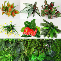 Outdoor Indoor Flowers Simulation Plants Plastic Fake Leaf Artificial Wall Home