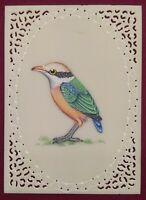 Hand Painted Tiny Bird Birds Fine Original Art Work Brush Work Mughal Wall Decor