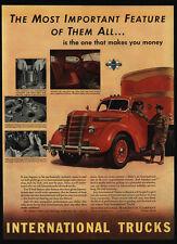 1939 INTERNATIONAL HARVESTER Red Delivery Truck - VINTAGE AD