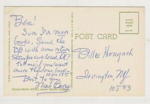 Max Carey Autographed Postcard
