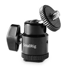 "SmallRig Tripod Ball Head Stand with Flash Shoe 1/4"" Hot Shoe Mount Adapter"