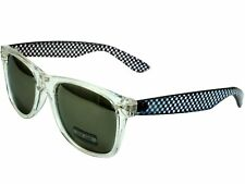 29d3240721 Crystal Classic Sunglasses Clear Checker Frame Gray Mirror Lens