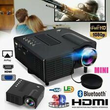 HD 1080P Mini Video Projector LED Home Theater Projector For TV/USB/SD/AV 10W