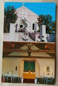 BERMUDA 1970 ST. JOHN'S CHURCH PICTURE POST CARD WITH HARBOUR ISLAND POSTMARK