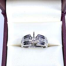 0.63ct Diamond Semi Mount Engagement Ring in 18k White Gold