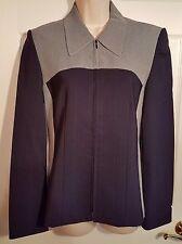 apriori European Designer Navy & White Jacket Blazer Coat, EUR 36, US 6