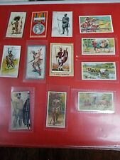 VARIOUS ZULU CIGARETTE TYPE CARDS SOUTH AFRICA